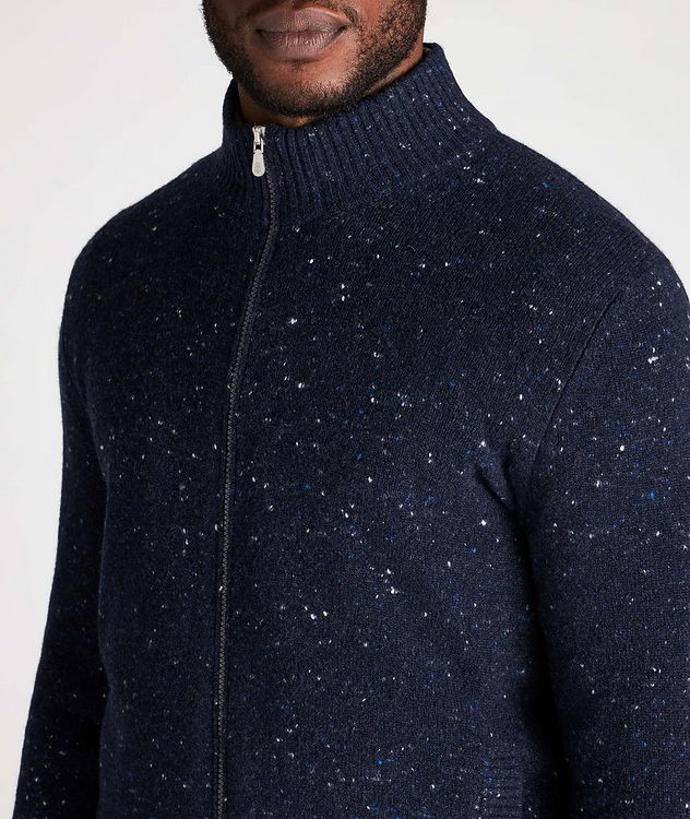 Zip-Up Wool-Cashmere Blend Sweater picture 4
