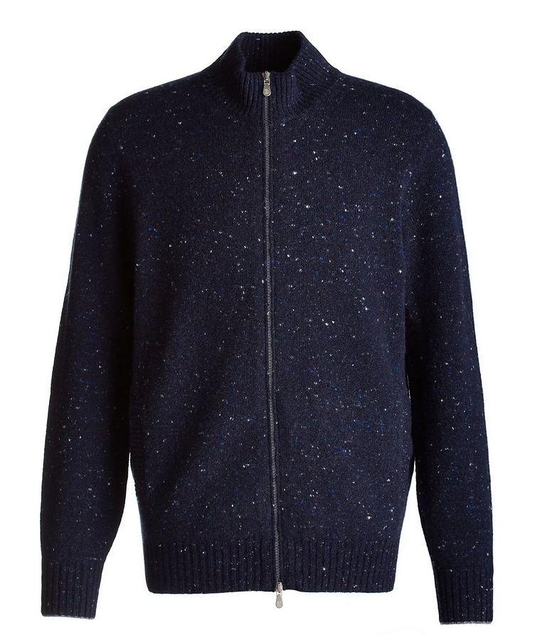 Zip-Up Wool-Cashmere Blend Sweater image 0