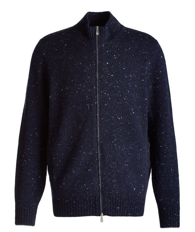 Zip-Up Wool-Cashmere Blend Sweater picture 1