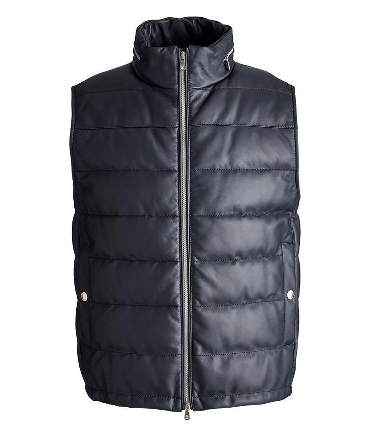 Padded Leather Vest image 0