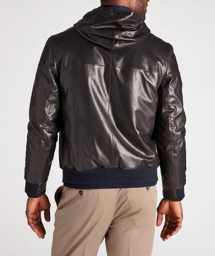 Reversible Hooded Leather Jacket image 2