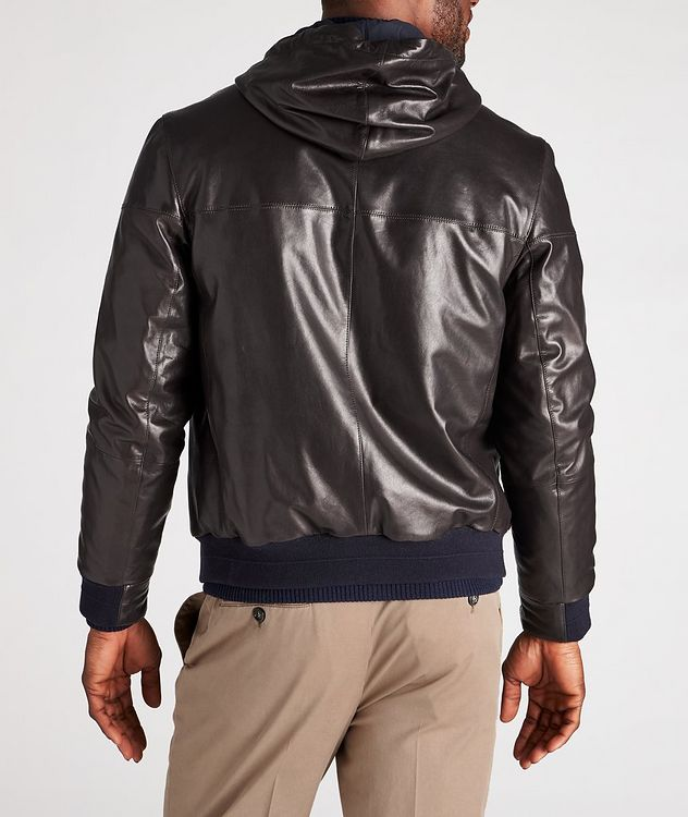 Reversible Hooded Leather Jacket picture 3