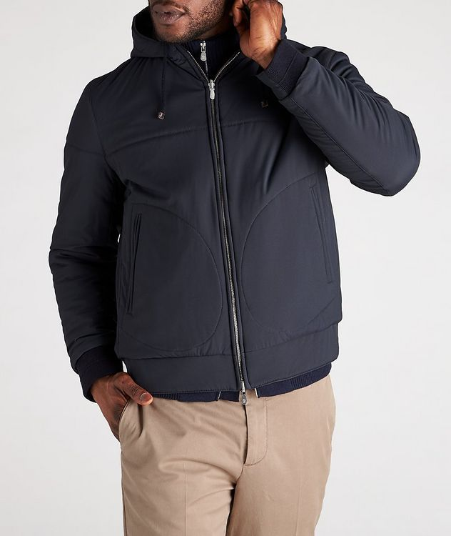 Reversible Hooded Leather Jacket picture 5