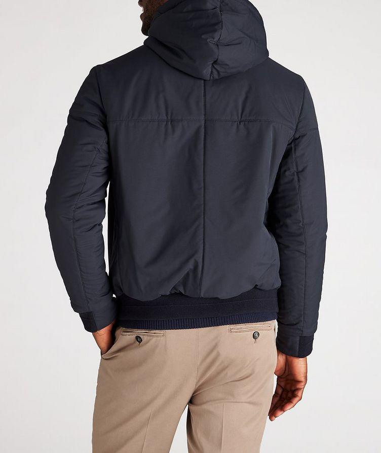 Reversible Hooded Leather Jacket image 5