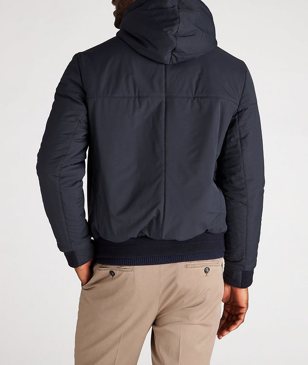 Reversible Hooded Leather Jacket picture 6