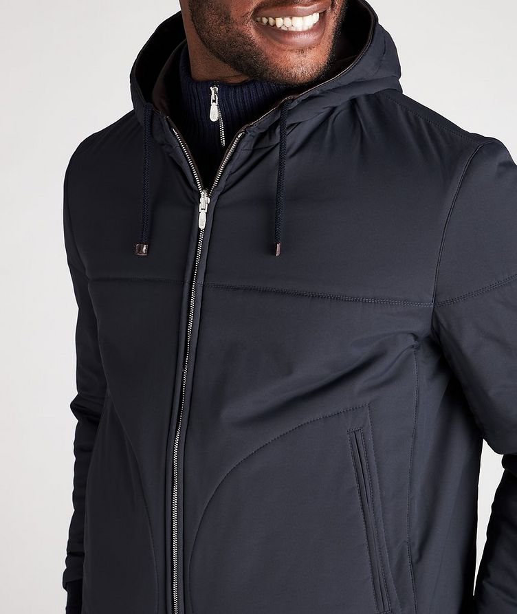 Reversible Hooded Leather Jacket image 6