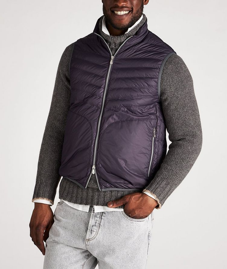 Water-Repellent Nylon Down Quilted Vest image 1