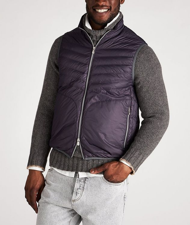 Water-Repellent Nylon Down Quilted Vest picture 2