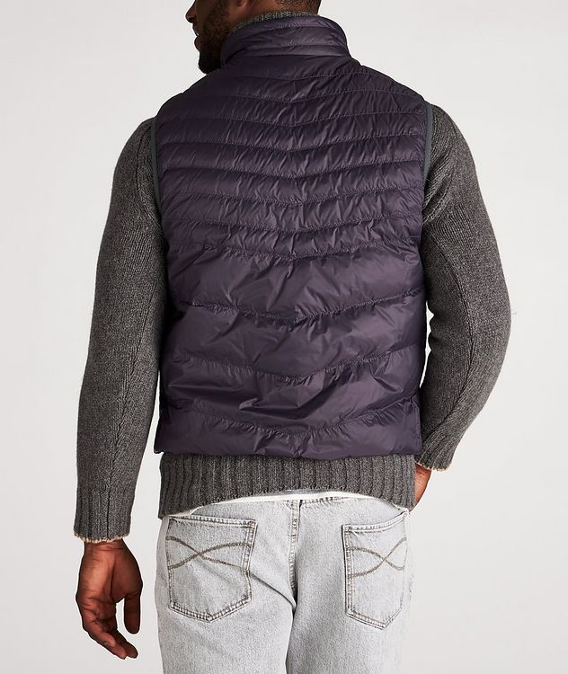 Water-Repellent Nylon Down Quilted Vest picture 3