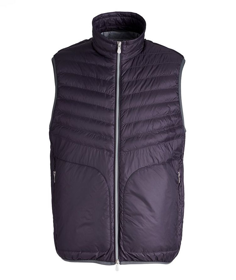 Water-Repellent Nylon Down Quilted Vest image 0