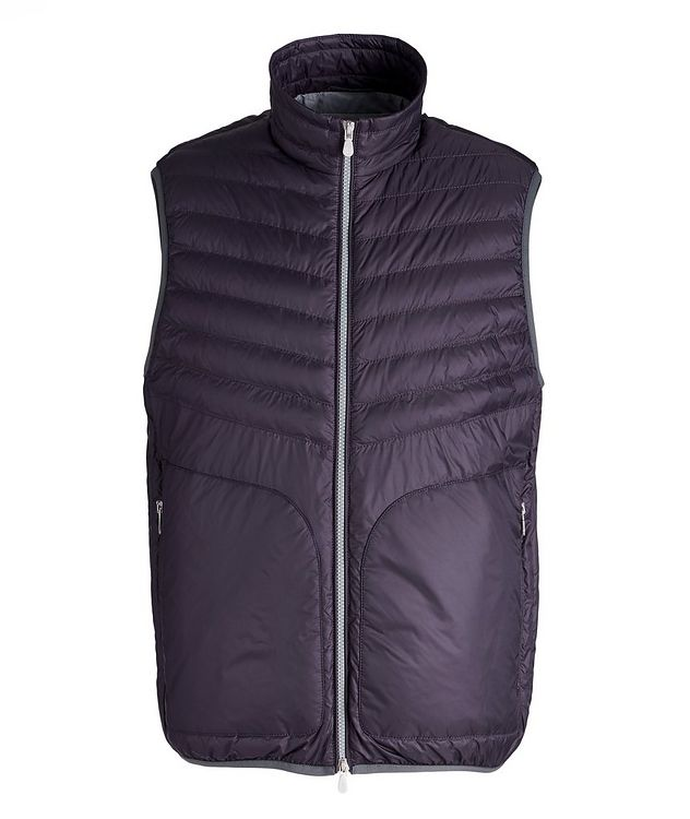 Water-Repellent Nylon Down Quilted Vest picture 1