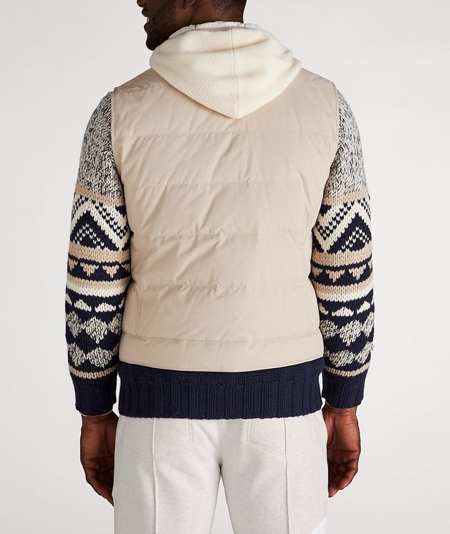 Water-Repellent Hooded Down Vest picture 3