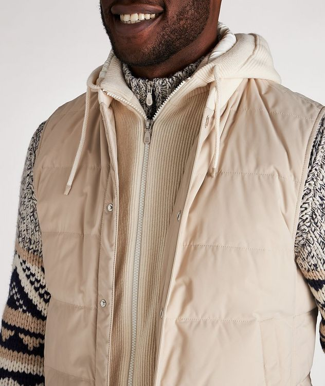 Water-Repellent Hooded Down Vest picture 4