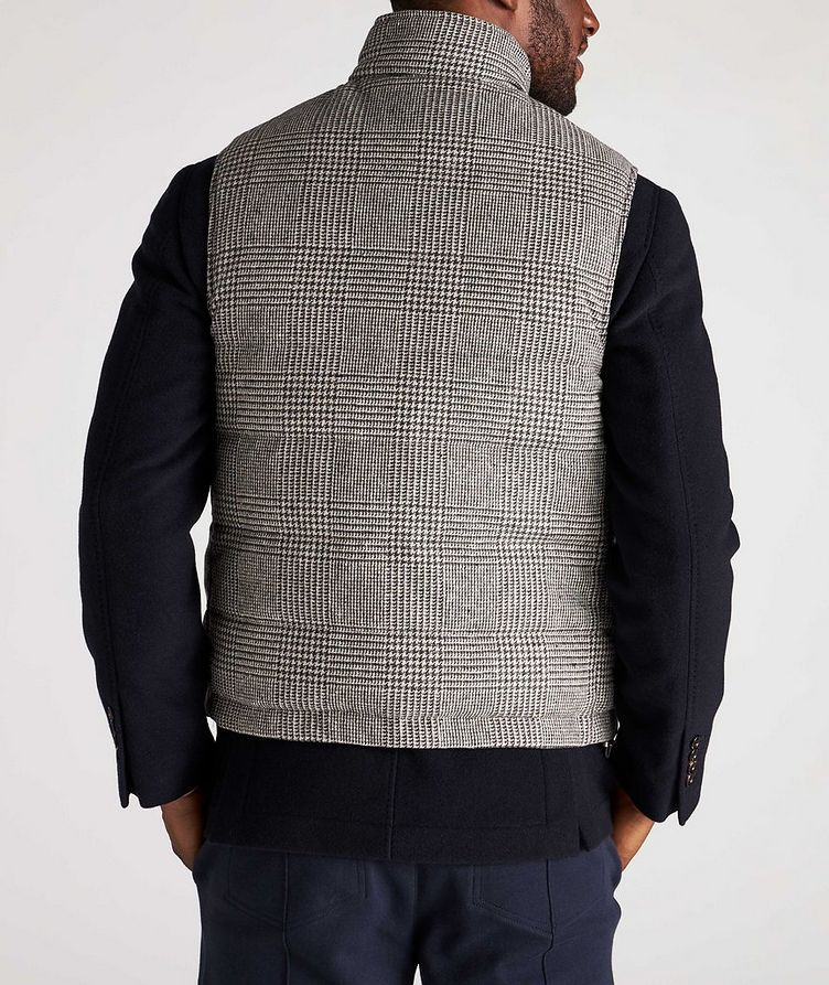 Reversible Houndstooth Wool-Cashmere Down Vest image 2