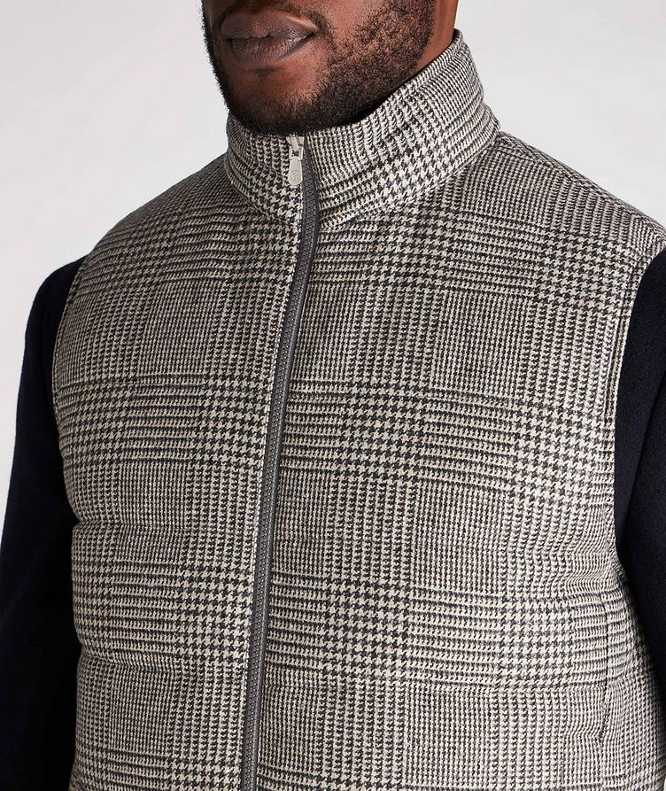 Reversible Houndstooth Wool-Cashmere Down Vest image 3