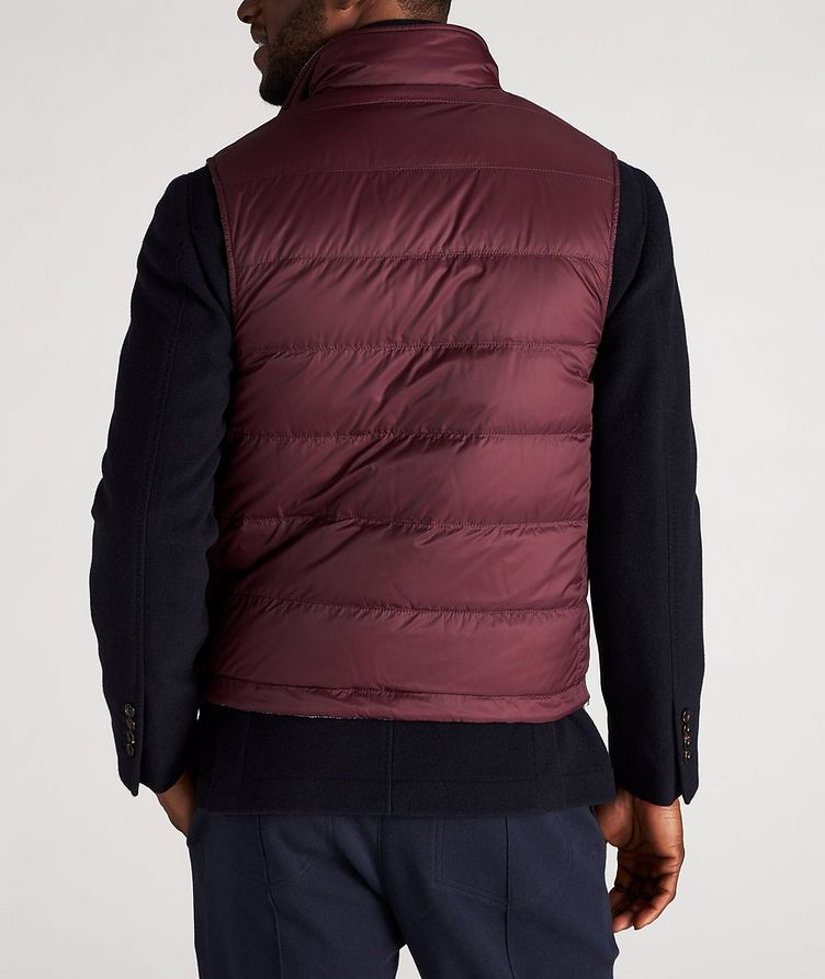 Reversible Houndstooth Wool-Cashmere Down Vest image 5