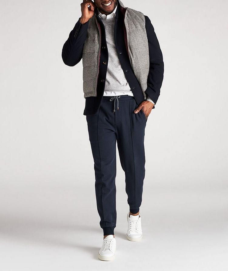 Reversible Houndstooth Wool-Cashmere Down Vest image 6