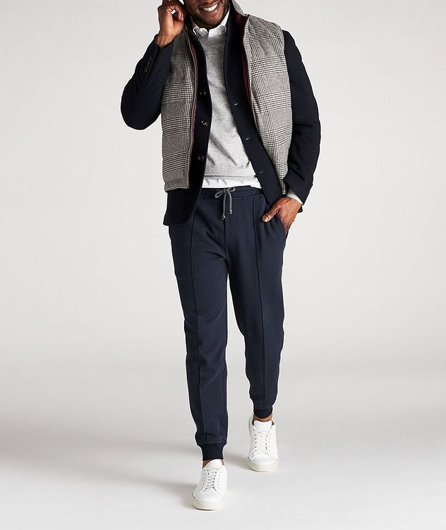 Reversible Houndstooth Wool-Cashmere Down Vest picture 7
