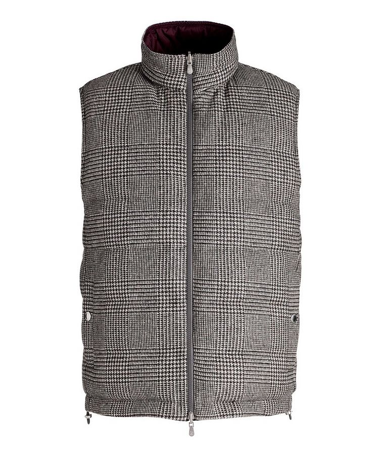 Reversible Houndstooth Wool-Cashmere Down Vest image 0