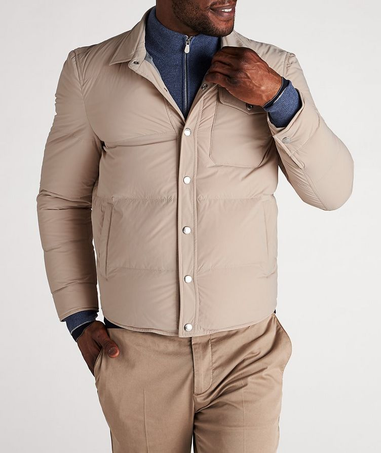 Water-Repellent Quilted Worker Jacket image 1