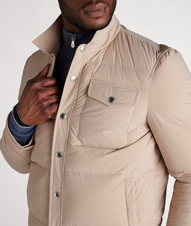 Water-Repellent Quilted Worker Jacket picture 4