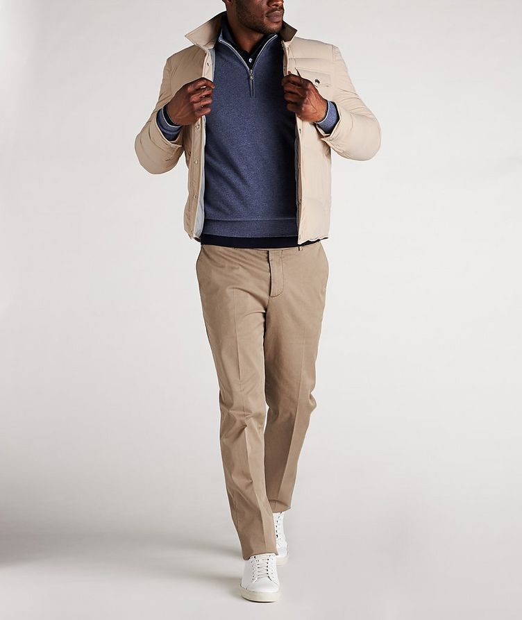 Water-Repellent Quilted Worker Jacket image 4