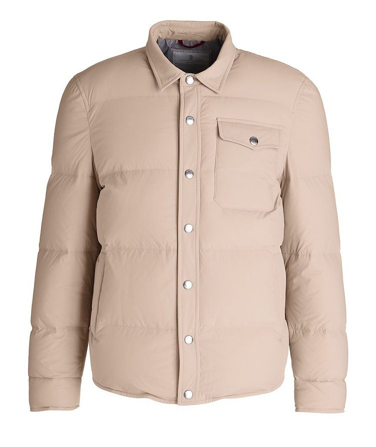 Water-Repellent Quilted Worker Jacket image 0