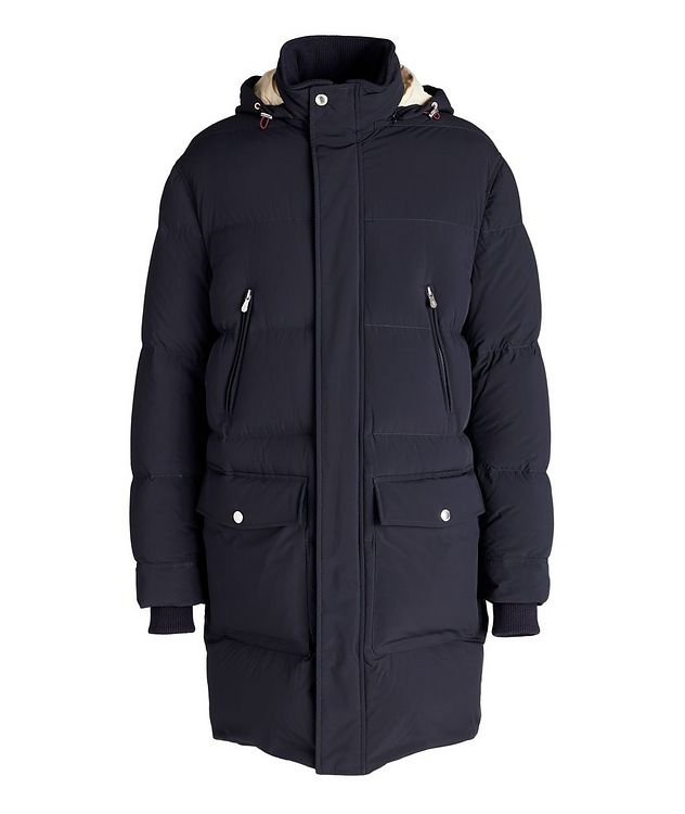 Water-Repellent Hooded Quilted Down Parka picture 1