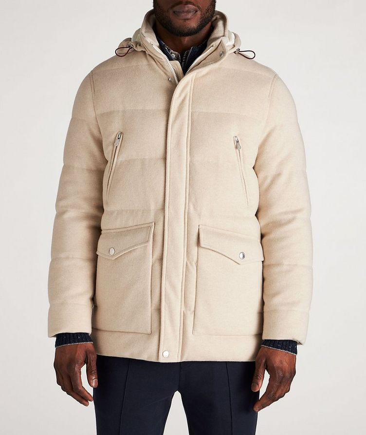 Hooded Cashmere Down Parka image 1