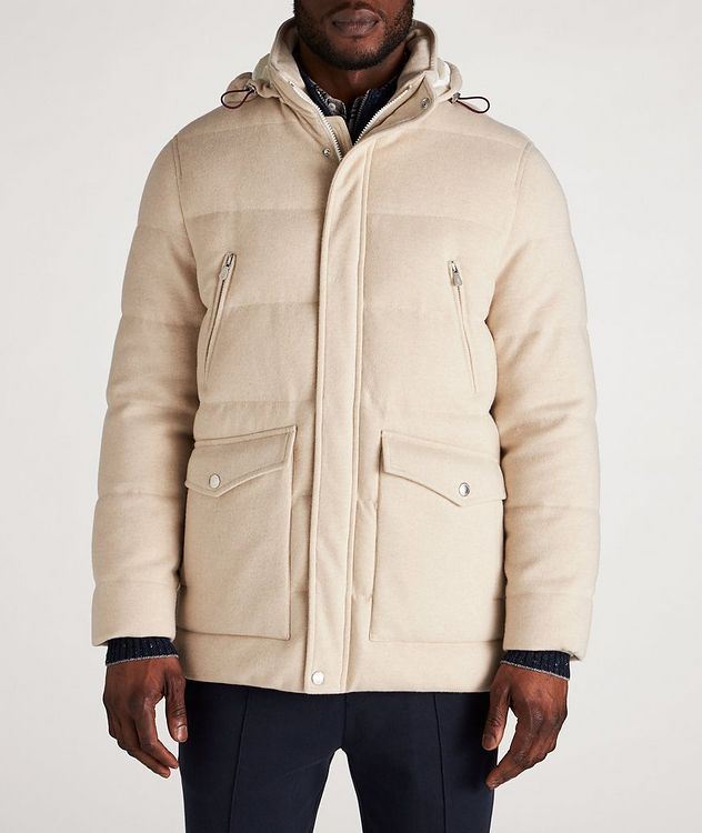Hooded Cashmere Down Parka picture 2