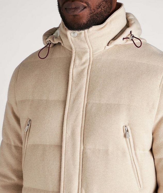 Hooded Cashmere Down Parka picture 4