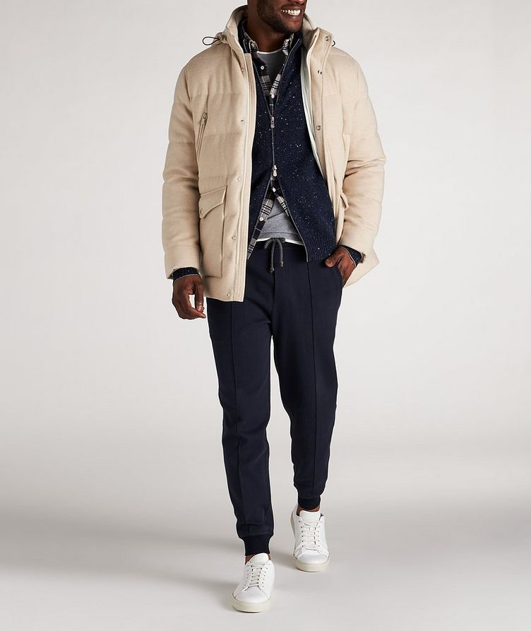 Hooded Cashmere Down Parka image 4