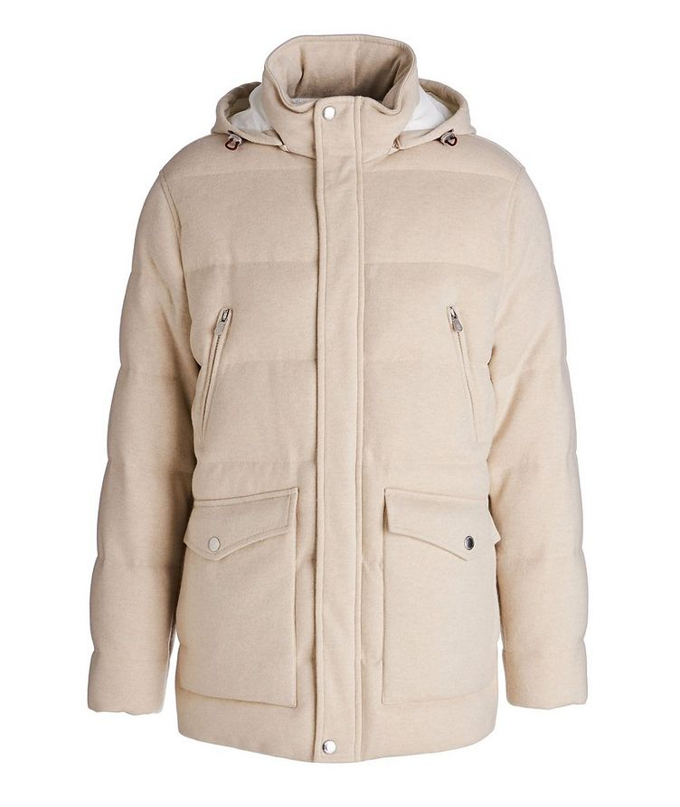 Hooded Cashmere Down Parka image 0