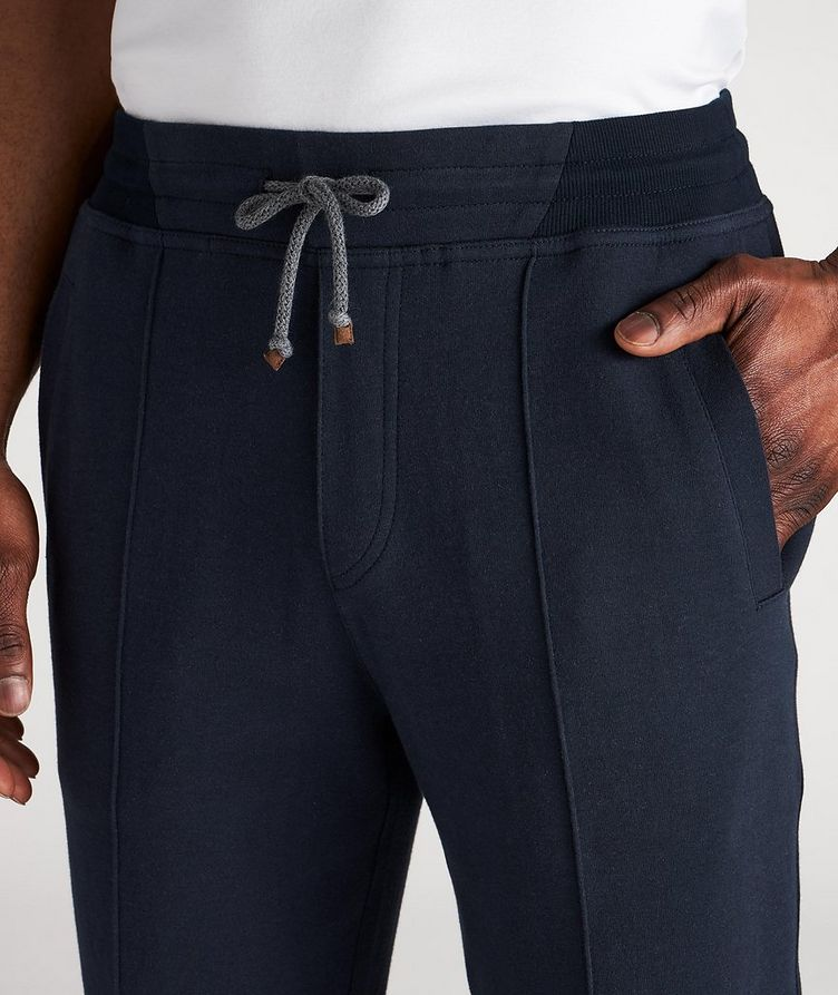 Cotton Pleated Drawstring Joggers image 3