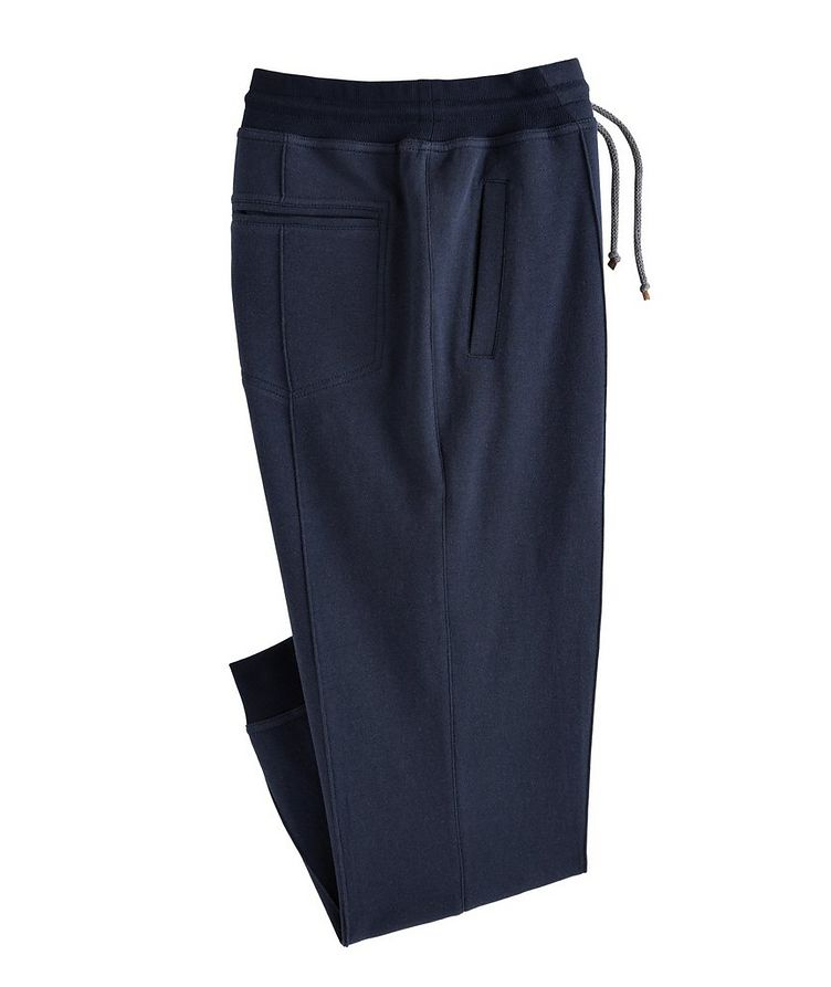 Cotton Pleated Drawstring Joggers image 0