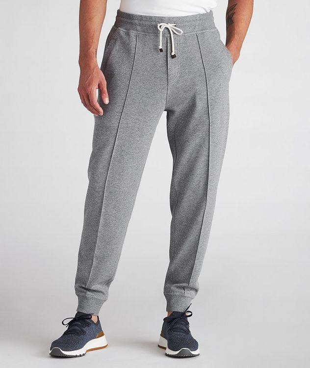 Pantalon sport en coton à cordon et à plis picture 2