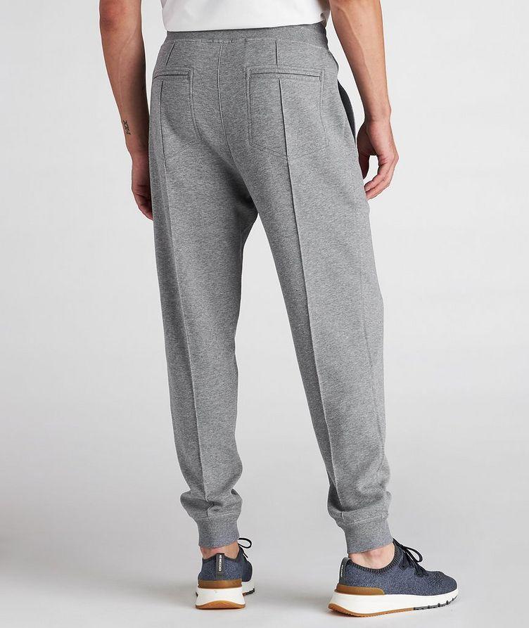 Pantalon sport en coton à cordon et à plis image 2