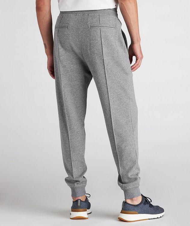 Pantalon sport en coton à cordon et à plis picture 3