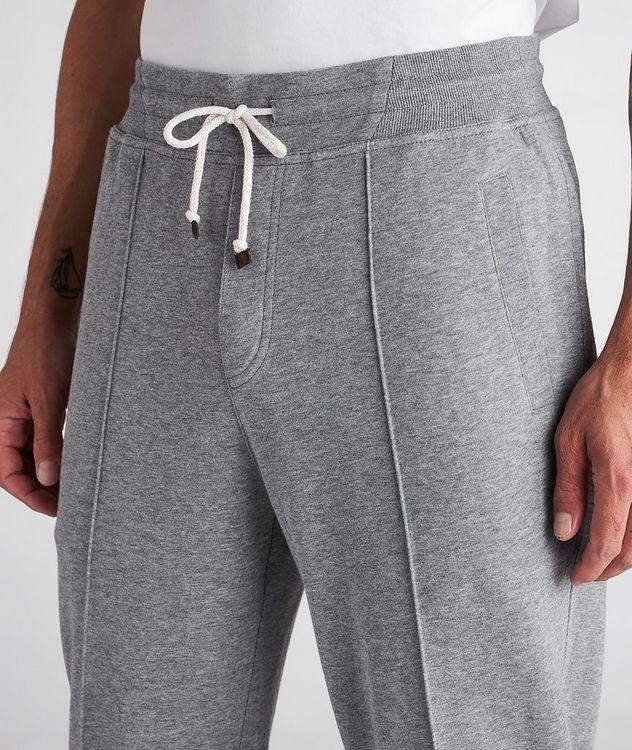 Pantalon sport en coton à cordon et à plis picture 4