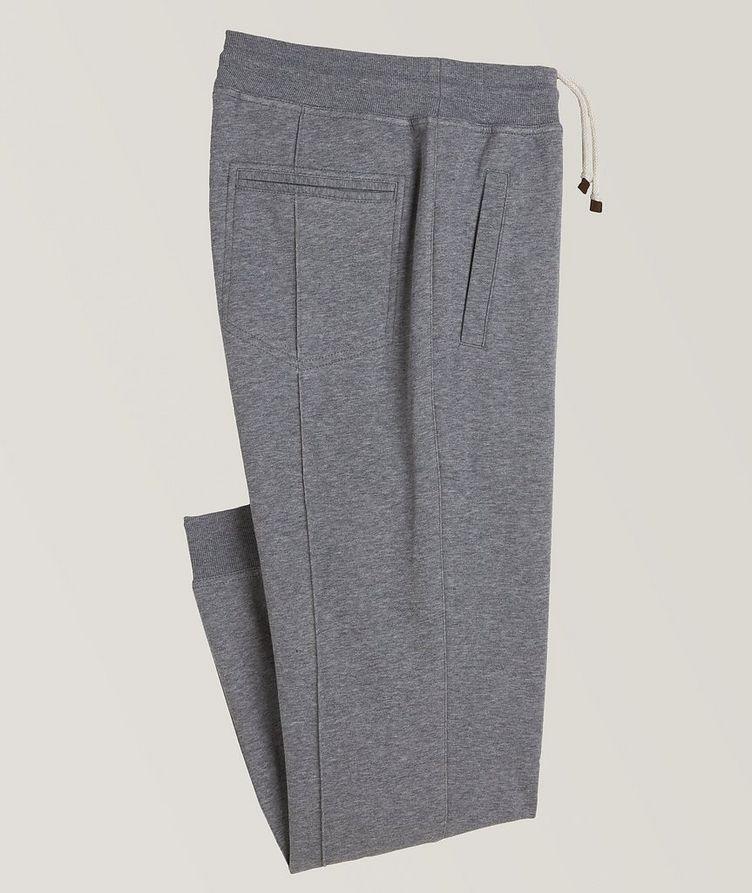 Pantalon sport en coton à cordon et à plis image 0