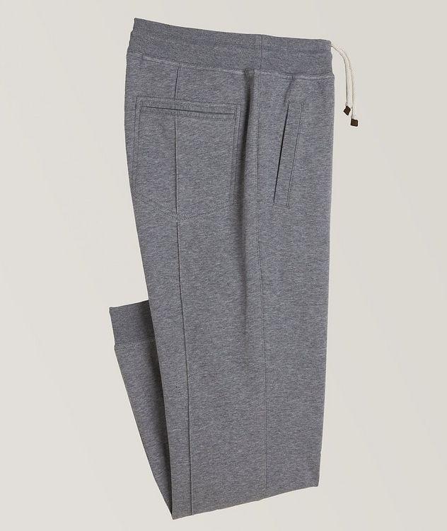 Pantalon sport en coton à cordon et à plis picture 1