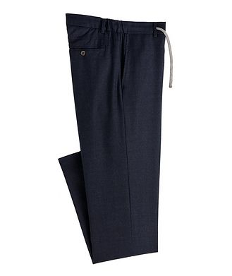 Canali Drawstring Wool Dress Pants