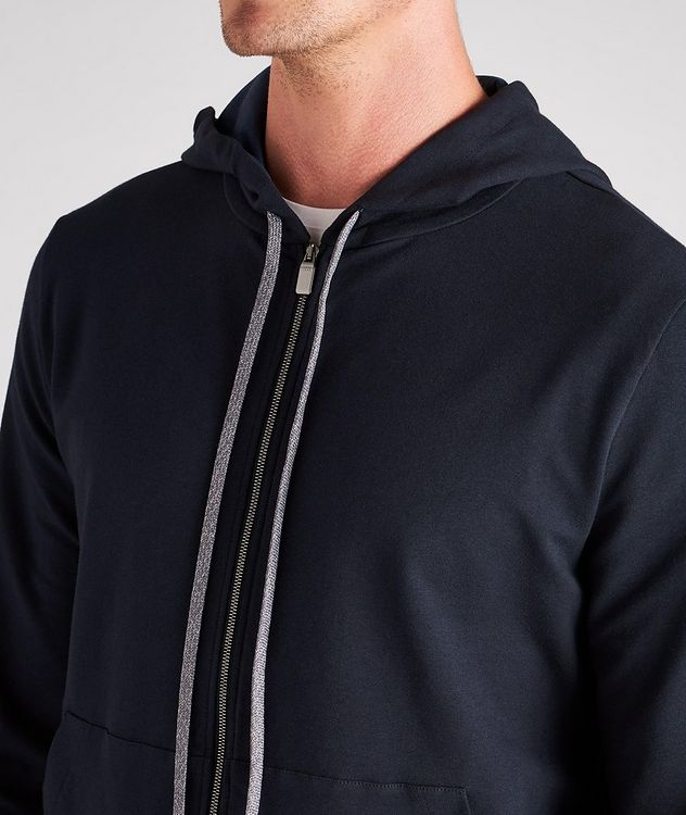 Zip-Up Stretch-Cotton Hoodie picture 4