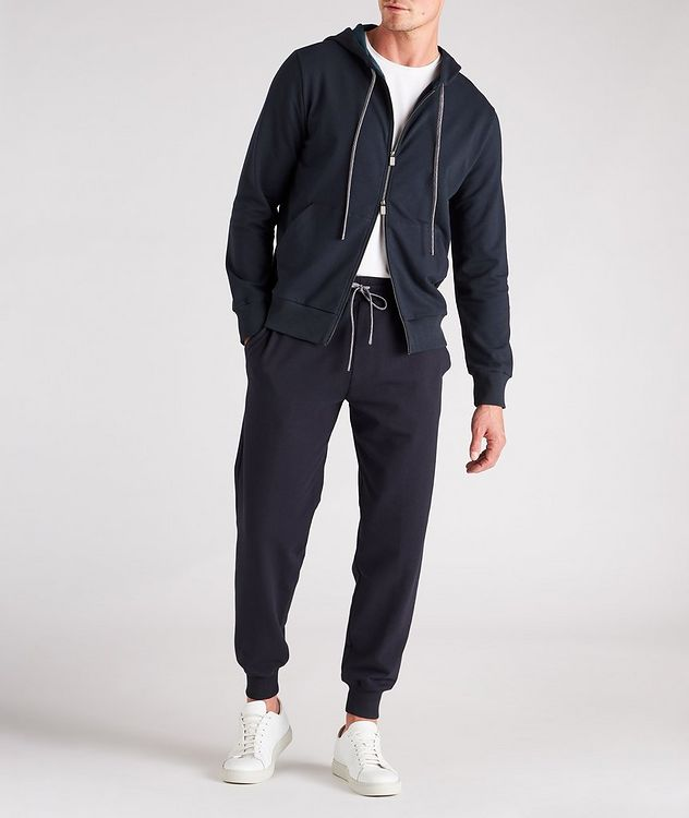 Zip-Up Stretch-Cotton Hoodie picture 5