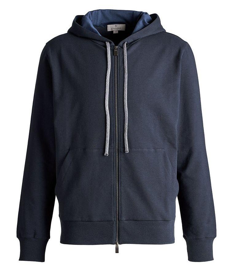 Zip-Up Stretch-Cotton Hoodie image 0
