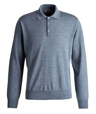 Canali Long-Sleeve Wool Polo