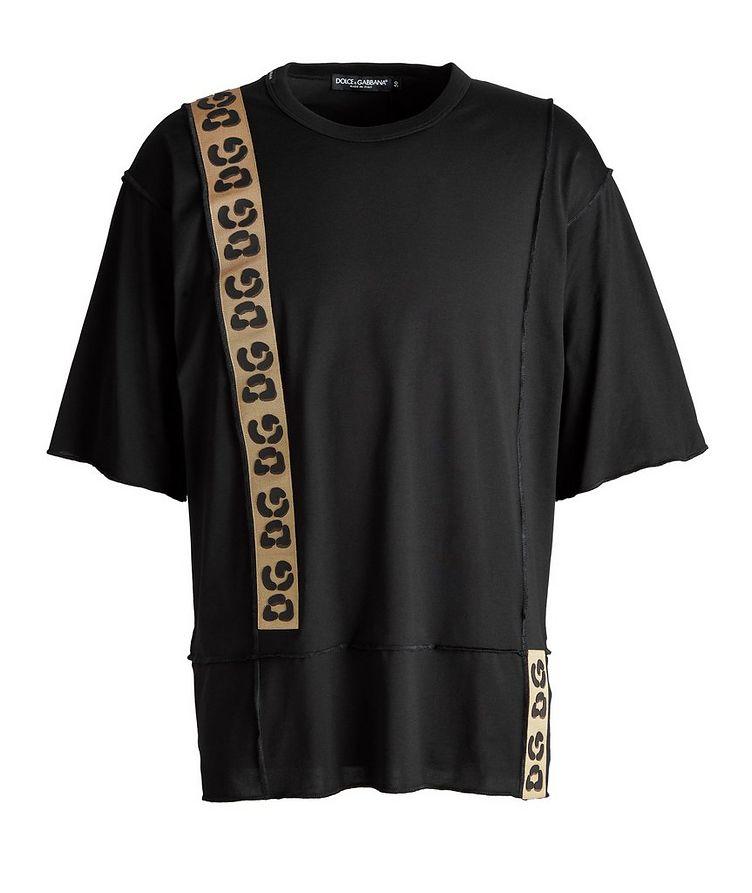 Leopard Trim Cotton T-Shirt image 0