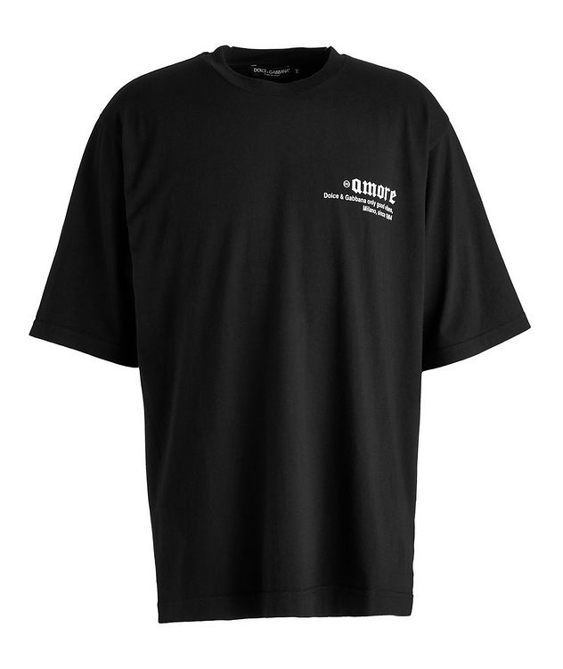 Leopard-Printed Logo Cotton T-Shirt picture 1