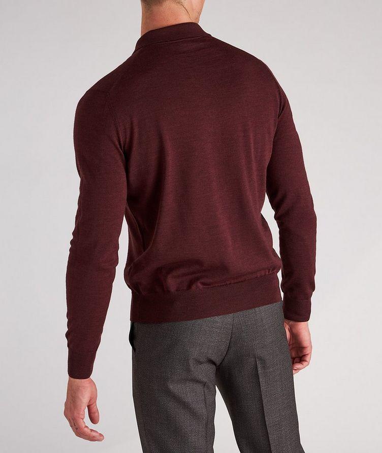 Long-Sleeve Wool Knit Polo image 2