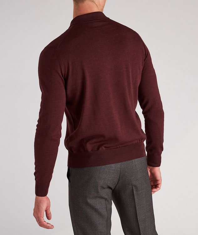 Long-Sleeve Wool Knit Polo picture 3